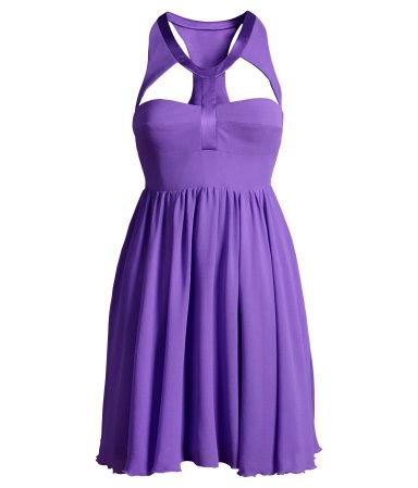 vestido lilás Versace